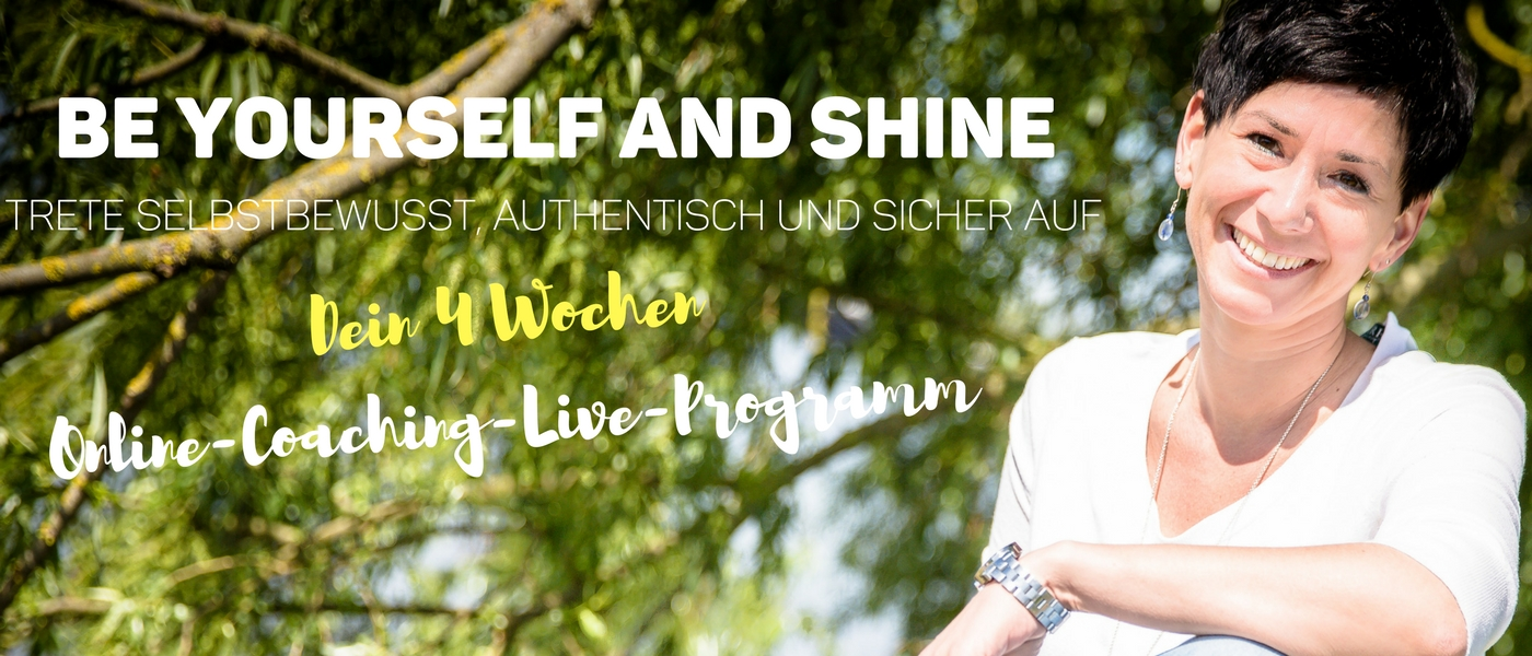 Be yourself and shine_Titelbild